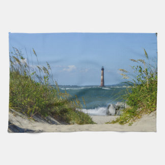 Morris Island Lighthouse Walkway Towel