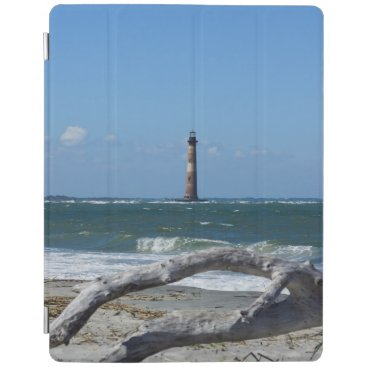 Beach Themed Morris Lighthouse And Tree Remains iPad Smart Cover