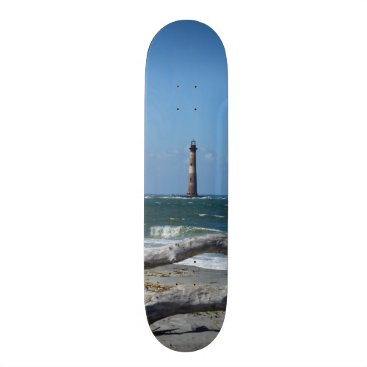 Beach Themed Morris Lighthouse And Tree Remains Skateboard