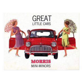 Morris Mini Minor 1963 Postcard