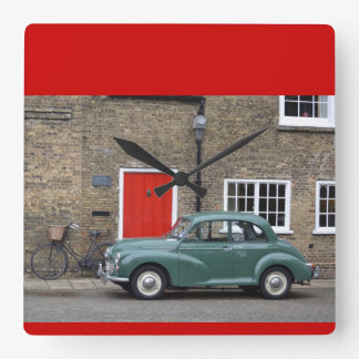 Morris Minor - Always arrive in style. Square Wall Clock