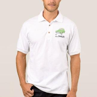 Morris Minor 'eat sleep smile' polo shirt, green