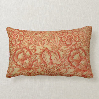 Morris - Pink and Poppy.floral pattern Pillows