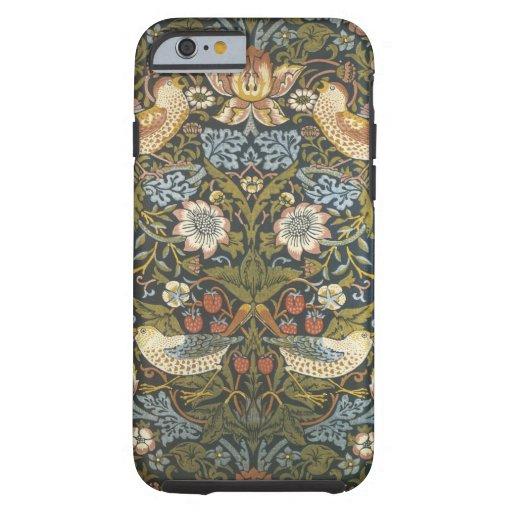 morris preciosos de Guillermo del vintage florales Funda Para iPhone 6 Tough