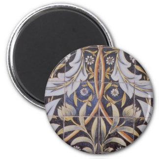 Morris tiles de Morgan 2 Inch Round Magnet