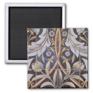 Morris tiles de Morgan Refrigerator Magnets