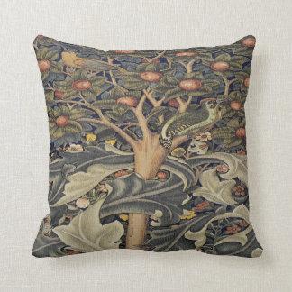 Morris Woodpecker tapestry detail pillow