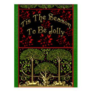 Morris-y postal del navidad