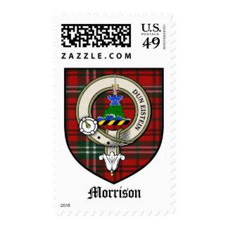 Morrison Clan Crest Badge Tartan Postage Stamps