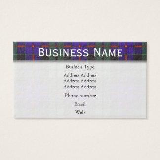 Morrison clan Plaid Scottish tartan Business Card
