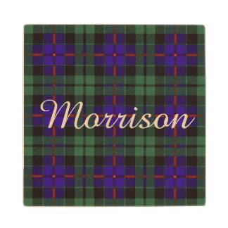 Morrison clan Plaid Scottish tartan Wood Coaster