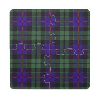 Morrison clan Plaid Scottish tartan Puzzle Coaster
