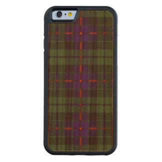 Morrison clan Plaid Scottish tartan Carved® Cherry iPhone 6 Bumper