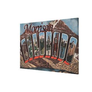 Morrison, Colorado - Large Letter Scenes Canvas Print