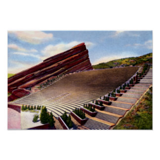 Morrison Colorado Red Rocks Amphitheatre Poster