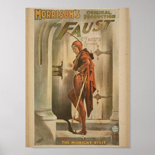 "Morrison de Fausto, vintage ""de la visita de media Posters"