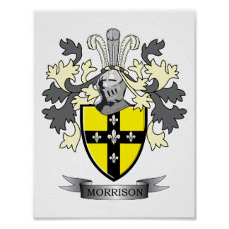 Morrison Family Crest Coat of Arms Poster