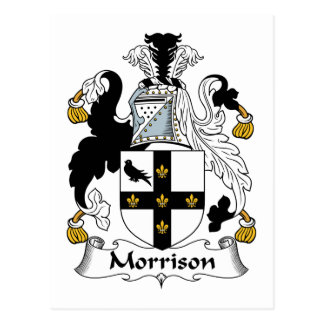 Morrison Family Crest Postcard