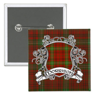 Morrison Tartan Shield Pinback Button