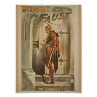 Morrison's of Faust, 'The Midnight Visit' Vintage Poster