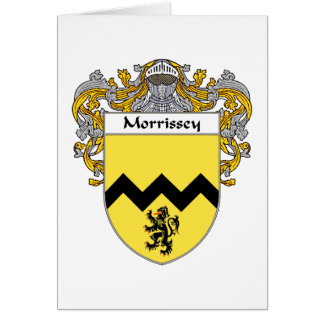 Morrissey Coat of Arms (Mantled) Card