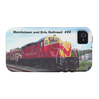 Morristown and Erie Railroad Engine #22 Vibe iPhone 4 Cover