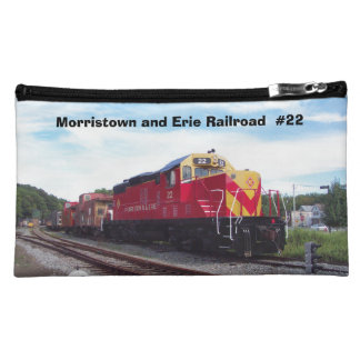 Morristown and Erie Railroad Engine #22  Cosmetic Makeup Bag