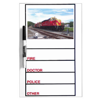 Morristown and Erie Railroad Engine #22 Dry Erase Board