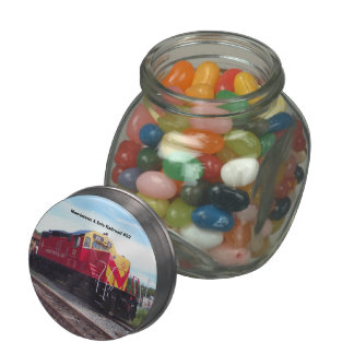 Morristown and Erie Railroad Engine #22 Glass Jars