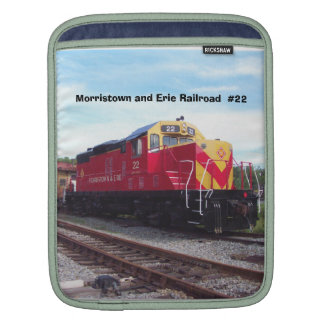 Morristown and Erie Railroad Engine #22 Sleeves For iPads