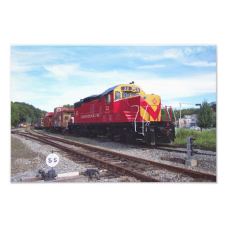 Morristown and Erie Railroad Engine # 22 Kodak Photographic Print