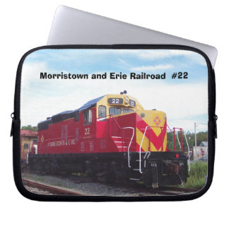 Morristown and Erie Railroad Engine #22 Laptop Computer Sleeves