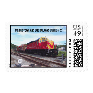 Morristown and Erie Railroad Engine # 22 Postage