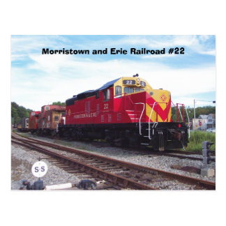 Morristown and Erie Railroad Engine #22 Postcards