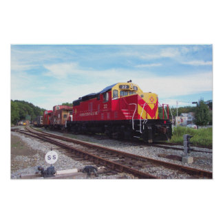 Morristown and Erie Railroad Engine # 22 Print