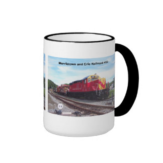Morristown and Erie Railroad Engine #22 Ringer Coffee Mug