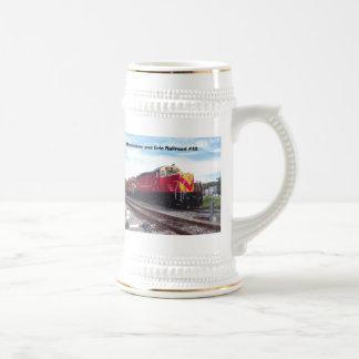 Morristown and Erie Railroad Engine #22 Stein Coffee Mug