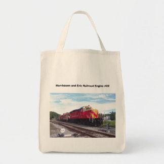 Morristown and Erie Railroad Engine #22 Tote Bags