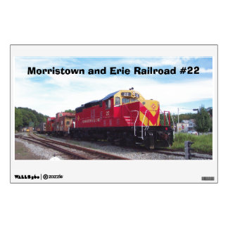 Morristown and Erie Railroad Engine #22 Wall Decal