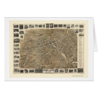 Morristown, mapa panorámico de NJ - 1899 Tarjeta