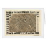 Morristown, NJ Panoramic Map - 1899 Greeting Cards