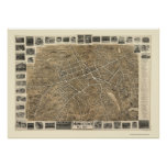 Morristown, NJ Panoramic Map - 1899 Poster