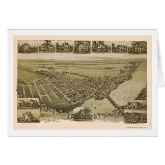 Morrisville, mapa panorámico del PA - 1893 Tarjeta De Felicitación