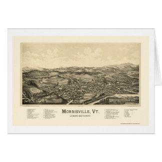 Morrisville, mapa panorámico del VT - 1889 Tarjeta De Felicitación