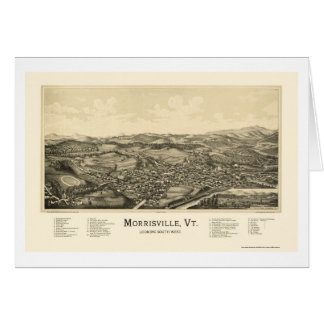 Morrisville, VT Panoramic Map - 1889 Greeting Cards