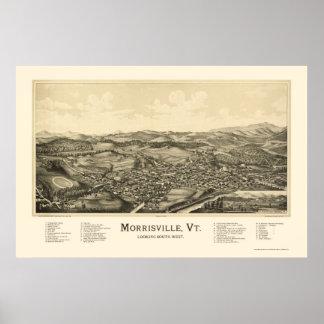 Morrisville, VT Panoramic Map - 1889 Print
