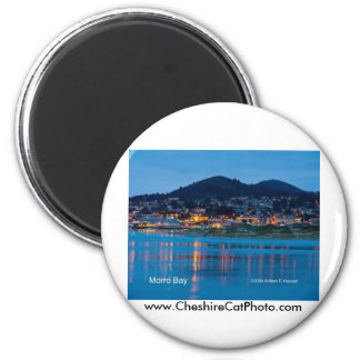 Morro Bay After Dark California Products 2 Inch Round Magnet