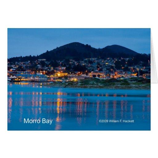 Morro Bay After Dark California Products Greeting Card