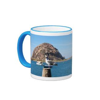 Morro Bay California Blue 11 oz Ringer Mug