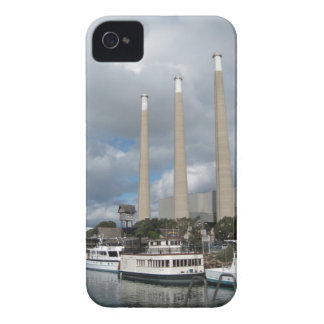 Morro Bay Fishing Boats and Smokestacks Case-Mate iPhone 4 Cases